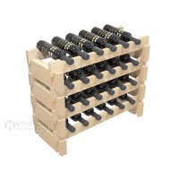 Vino Grotto 24 Bottle Short Scalloped Wine Rack Set - Pine Showcase