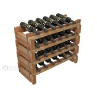 Vino Grotto 24 Bottle Short Scalloped Wine Rack Set - Redwood Showcase