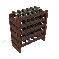 Vino Grotto 30 Bottle Short Scalloped Wine Rack Set - Pine Cherry-Stain Showcase