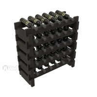 Vino Grotto 30 Bottle Short Scalloped Wine Rack Set - Pine Ebony-Stain Showcase