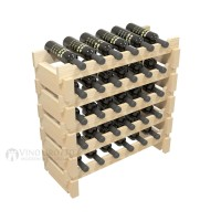 Vino Grotto 30 Bottle Short Scalloped Wine Rack Set - Pine Showcase