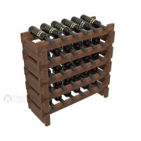 Vino Grotto 30 Bottle Short Scalloped Wine Rack Set - Redwood Walnut-Stain Showcase
