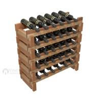 Vino Grotto 30 Bottle Short Scalloped Wine Rack Set - Redwood Showcase