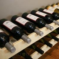 Stacking Scalloped Wine Racks Premium Pine