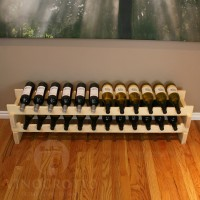 Stacking Scalloped Wine Racks Premium Pine
