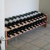 24 Bottle Stacking Scalloped Rack in Redwood