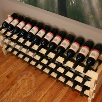 36 Bottle Stacking Wine Rack in Pine