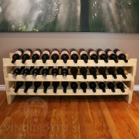 Pine Stacking Scalloped Wine Racks from VinoGrotto