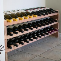 Redwood Stacking Scalloped Wine Racks from VinoGrotto