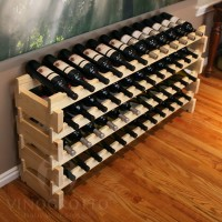 48 Bottle Scalloped Stacking Wine Rack in Premium Pine