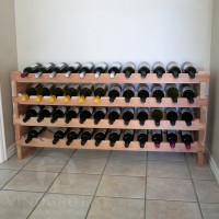 48 Bottle Scalloped Stacking Wine Rack in Premium Redwood