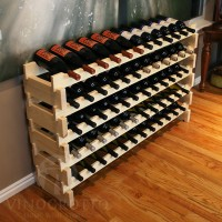 60 Bottle Stacking Wine Rack in Premium Pine