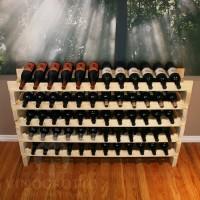 60 Bottle Stackable Wine Rack in Premium Pine
