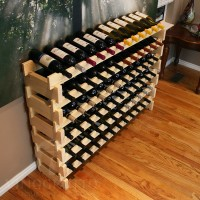 Stacking Wine Rack in Premium Pine - Holds 72 Bottles