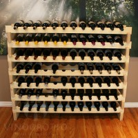84 Bottle Stacking Wine Rack in Premium Pine