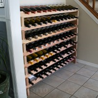 84 Bottle Stacking Wine Rack in Premium Redwood