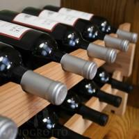 Stacking Scalloped Wine Racks in Premium Redwood