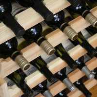 Stacking Scalloped Wine Racks in Premium Redwood