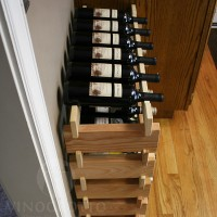 Stacking Scalloped Wine Racks in Premium Redwood from VinoGrotto