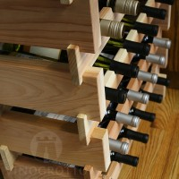 Scalloped Wine Racks in Redwood from VinoGrotto