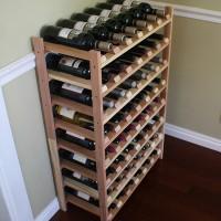 48 Bottle Stacking Wine Shelves Redwood Showcase