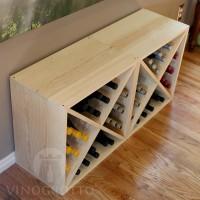 VINOGROTTO-WC-1-X2-P - 48 Bottle Wine Cube Set - Pine