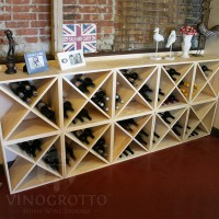 Vino Grotto 240 Bottle Wine Cube Wall (10 Cubes) - Pine Showcase