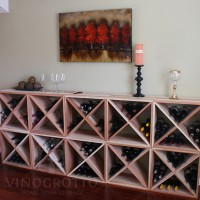Vino Grotto 240 Bottle Wine Cube Wall (10 Cubes) - Redwood