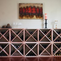 Vino Grotto 240 Bottle Wine Cube Wall (10 Cubes) - Redwood Showcase