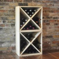 VINOGROTTO-WC-24-X2-P - 48 Bottle Wine Cube Set in Pine