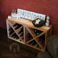 VINOGROTTO-WC-24-X2-R - 48 Bottle Wine Cube Set - Winter Redwood Showcase