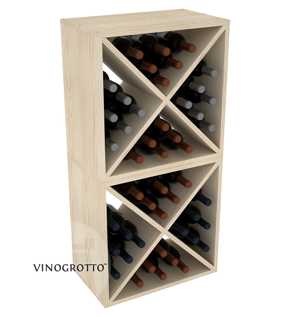 VINOGROTTO-WC-24-X2 - 48 Bottle Wine Cube Set - Pine Showcase