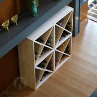 96 Bottle Wine Cube Collection in Premium Pine