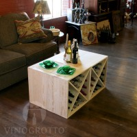 VINOGROTTO-WC-24-X4-P - 96 Bottle Wine Cube Set in Premium Pine