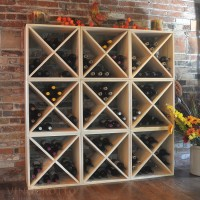 216 Bottle Wine Cube Set in Premium Pine