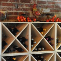 Stacking Wine Cubes in Premium Pine with Fall Decor