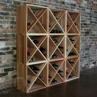 216 Bottle Wine Cube Set in Premium Redwood