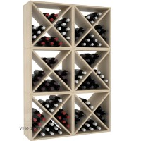 Vino Grotto 144 Bottle Wine Cube Wall (6 Cubes) - Pine Showcase