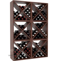 Vino Grotto 144 Bottle Wine Cube Wall (6 Cubes) - Pine Cherry-Stain Satin Finish Showcase