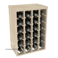 VINOGROTTO-DTT-24-P - 24 Bottle Table Rack in High Quality Pine Showcase