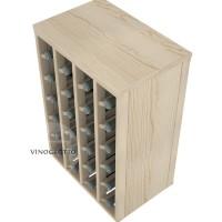 VINOGROTTO-DTT-24-P - 24 Bottle Table Rack in High Quality Pine Detail