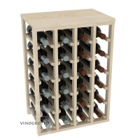 24 Bottle Table Wine Rack - Pine Showcase