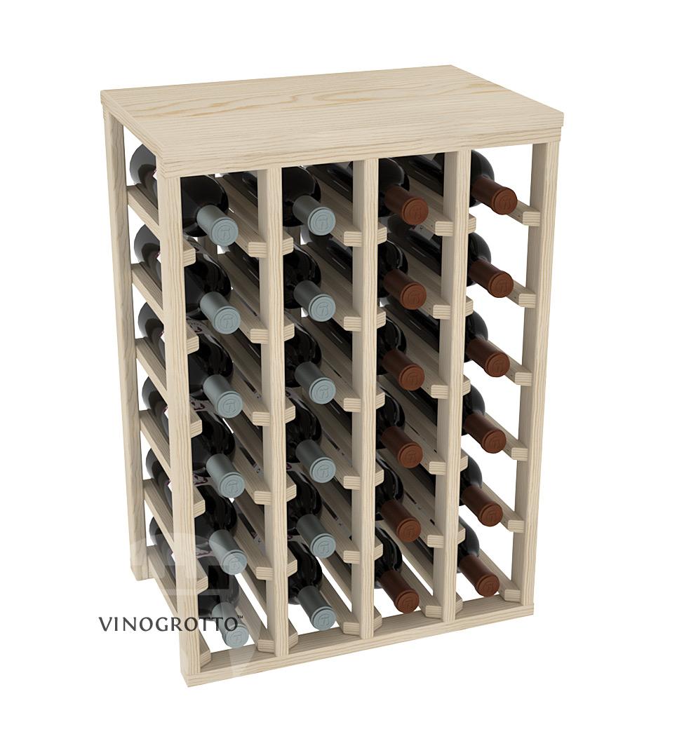 24 Bottle Table Wine Rack - Pine Showcase