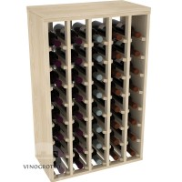 40 Bottle Table Wine Rack - Pine Showcase