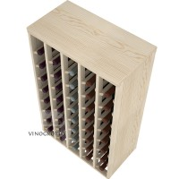 40 Bottle Table Wine Rack - Pine Detail