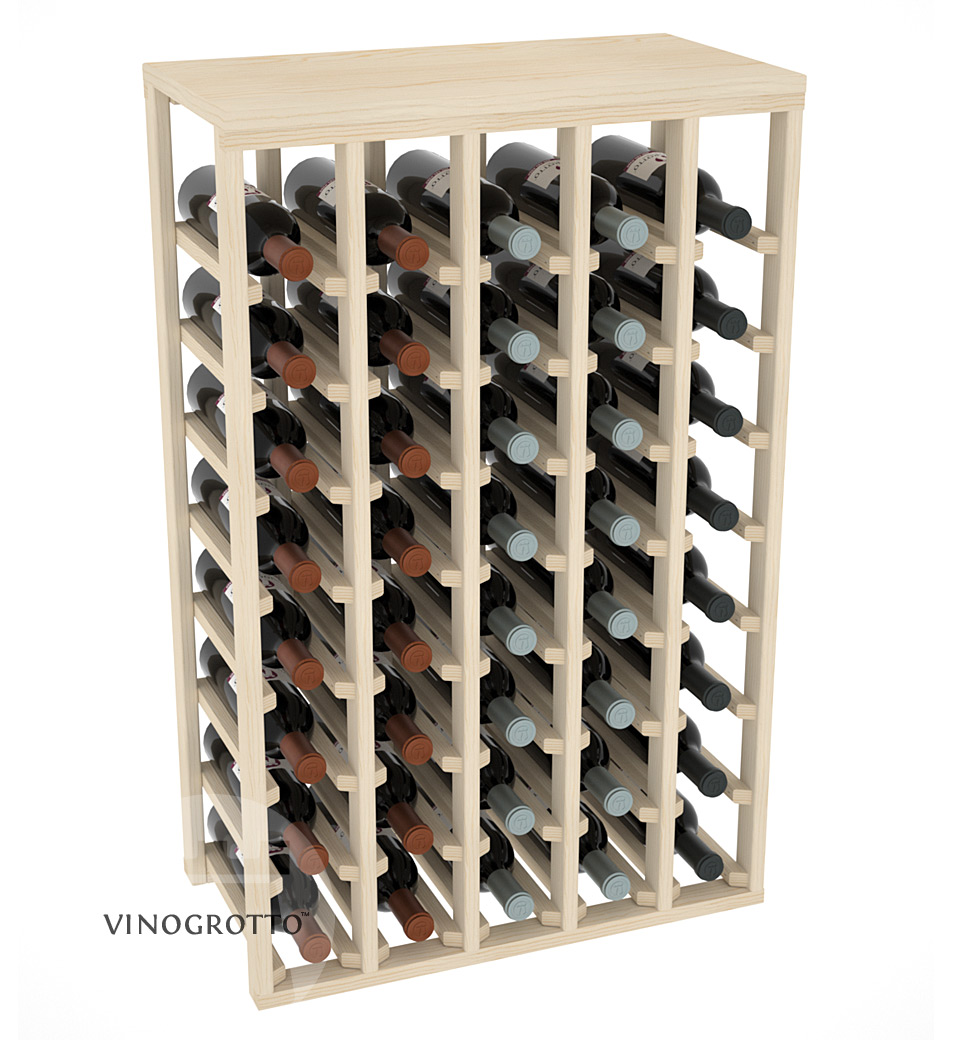40 Bottle Table Wine Rack by VInoGrotto - Pine Showcase