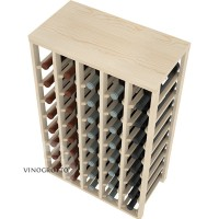 40 Bottle Table Wine Rack by VInoGrotto - Pine Detail