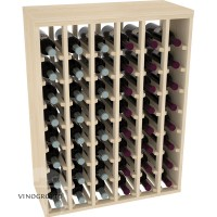 48 Bottle Premium Table Rack - Pine Showcase
