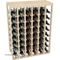 48 Bottle Table Wine Rack - Pine Showcase