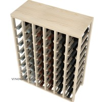 48 Bottle Table Wine Rack - Pine Detail